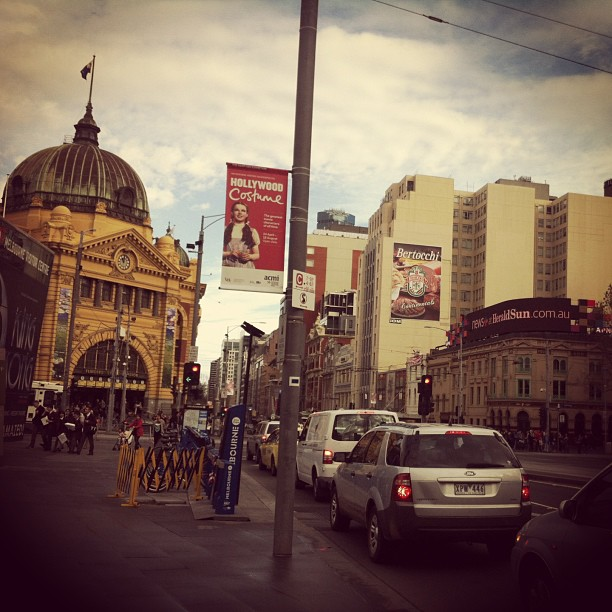 Flinders St Station, from Federation Square